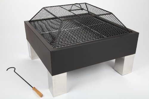 point garden feuerschale 68cm gartengrill grill edelstahl. Black Bedroom Furniture Sets. Home Design Ideas