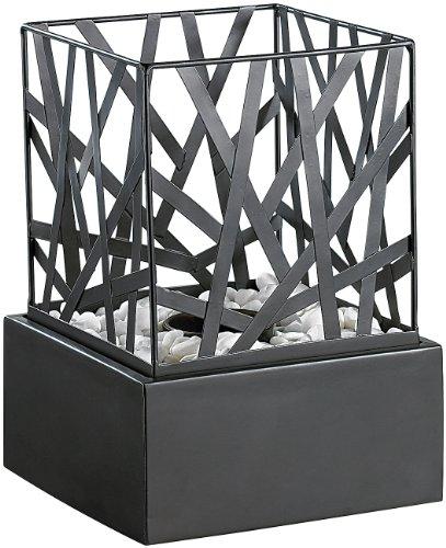 carlo milano tisch dekofeuer feng shui mit steingarten. Black Bedroom Furniture Sets. Home Design Ideas